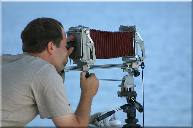 Using a view camera
