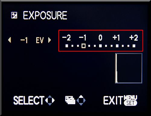 Exposure Compensation by -1 EV