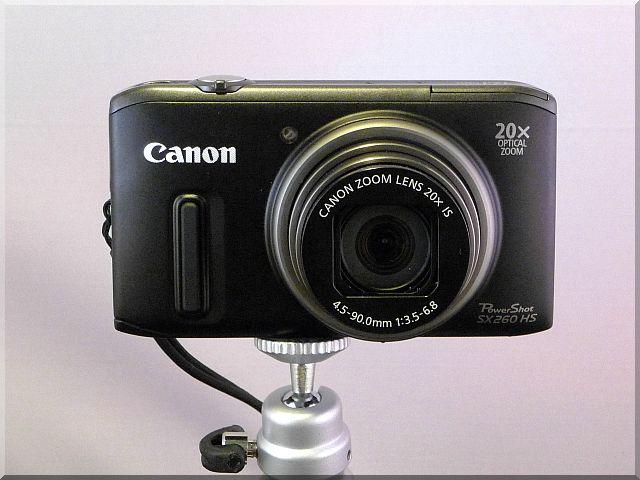 Canon PowerShot SX260 HS (front view)