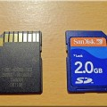 Secure Digital Card (SanDisk 2 GB, unspecified speed, probably class 2)