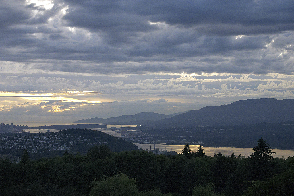 Evening over Vancouver