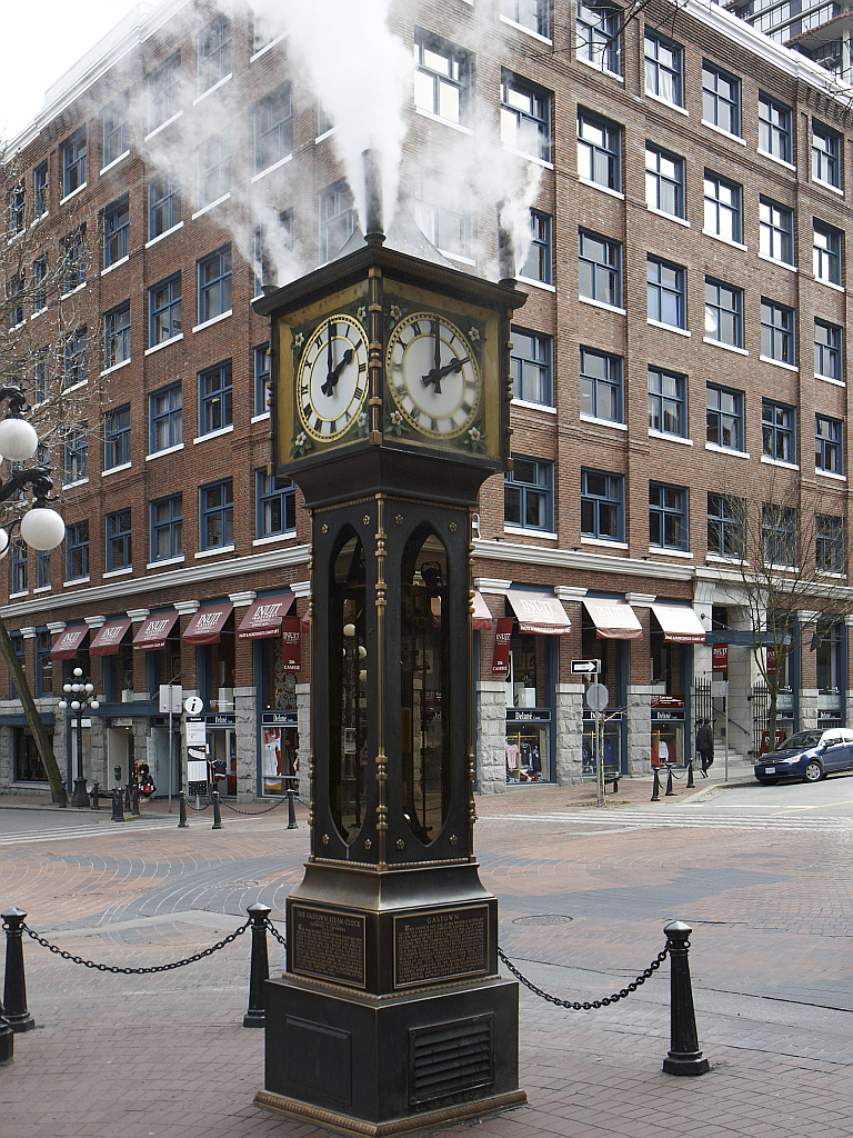 The Steam Clock at 2 pm