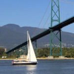 View from the Seawall towards Lions Gate Bridge