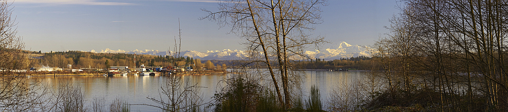 View with Mt. Baker in background